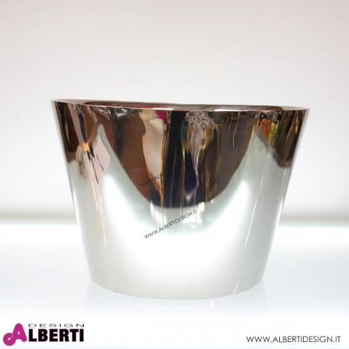 Secchiello in acciaio cromato 59x49x40