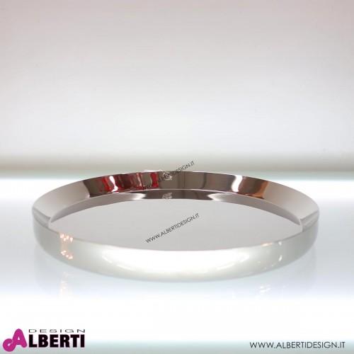 Vassoio rotondo in acciaio cromato Ø 55 x 5