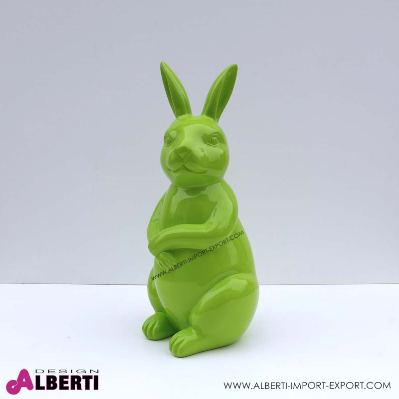 963 PLA511V_a Coniglio verde h50cm