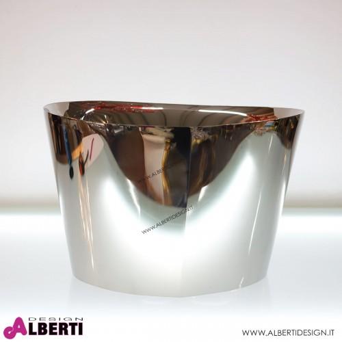 Secchiello in acciaio cromato 57x57x29