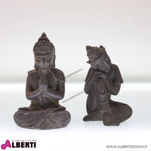 Buddha seduti 25cm cemento