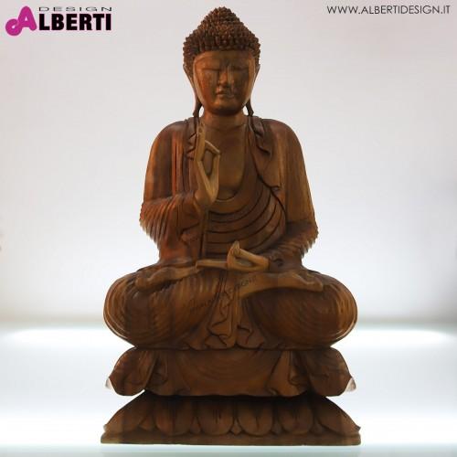 Buddha in legno bicolor 45x22xH80cm