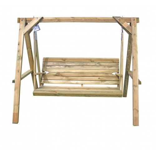 Dondolo in legno di pino 210x140x170