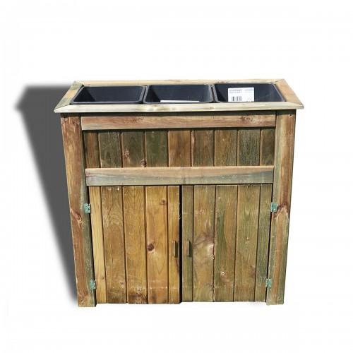 Portavaso con mobiletto in legno di pino 84x35x81 cm