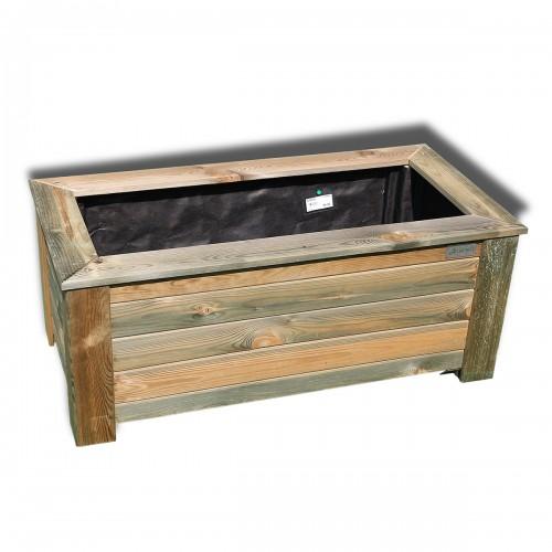 Fioriera Matington in legno di pino 100x50xh40 cm