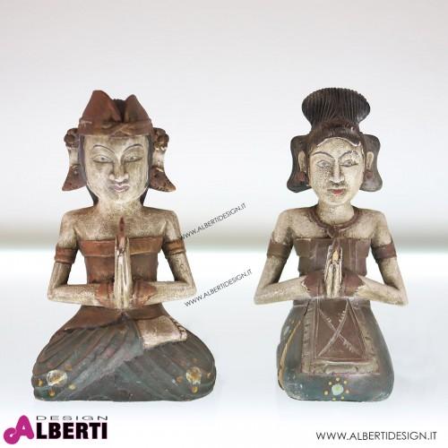 Statua nuz.coppia uomo/donna 16x12x27 cm