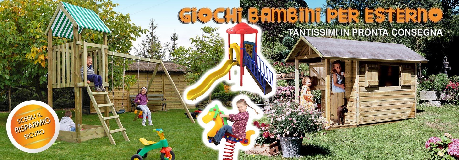 Giochi in legno da giardino