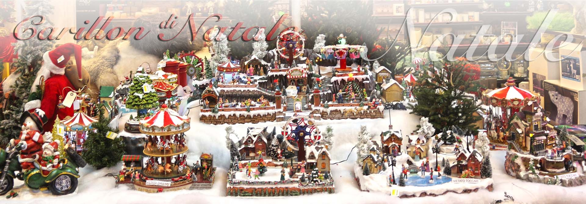 Carillon di Natale alberi addobbi decorazioni natalizie