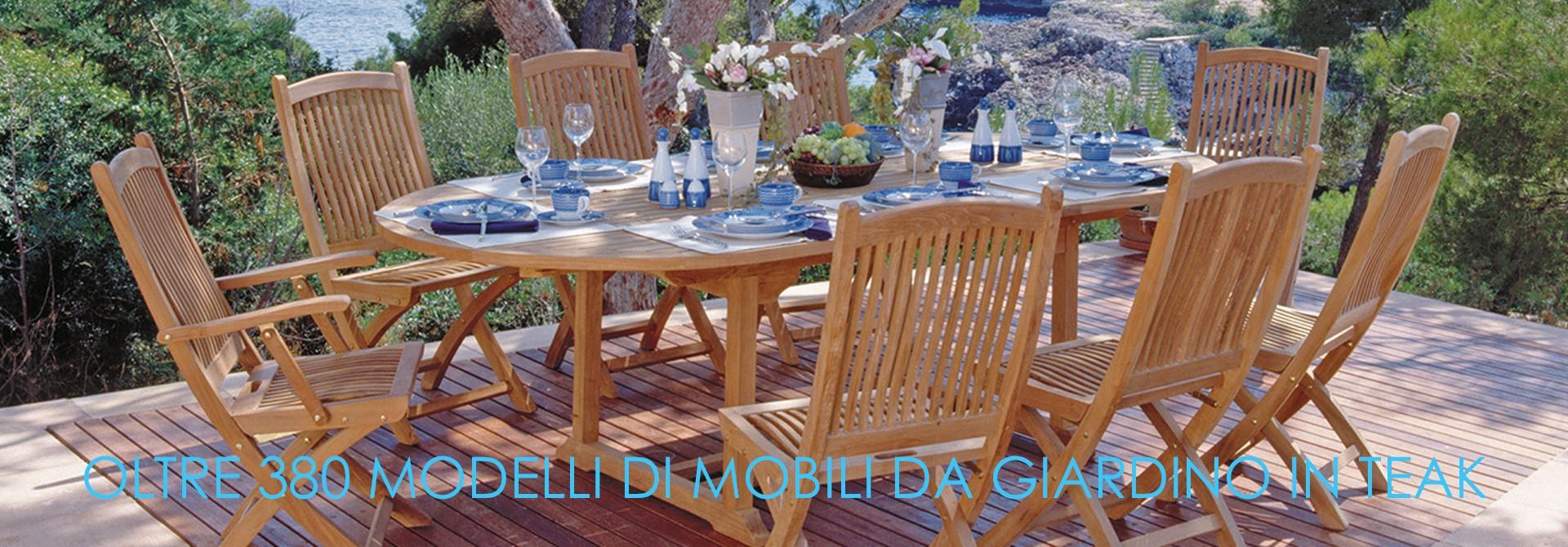 mobili in teak per giardino